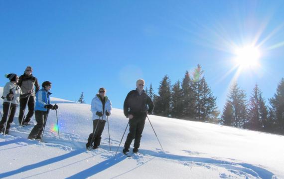 Hotel Mattlihüs - Schneeschuhwanderung mit Wolfgang Zeller