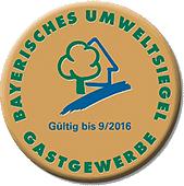 Bayerisches Umweltsiegel Gastgewerbe 2016 Gold