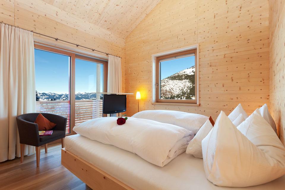 Doppelzimmer Holz100