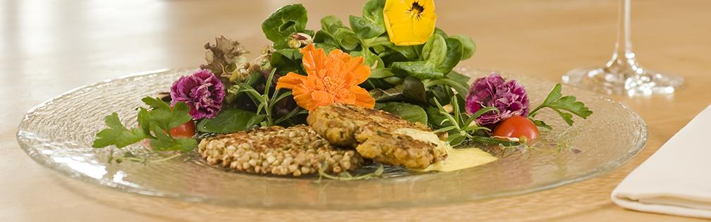 Biohotel Mattlihüs Vegetarisches Gericht