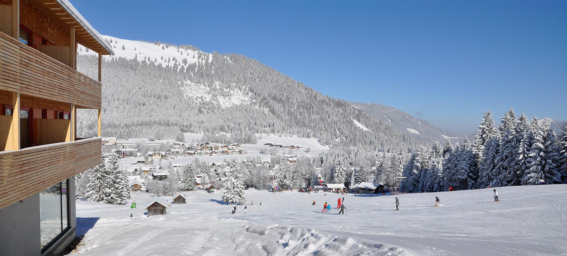 Biohotel Mattlihüs mitten im Skigebiet